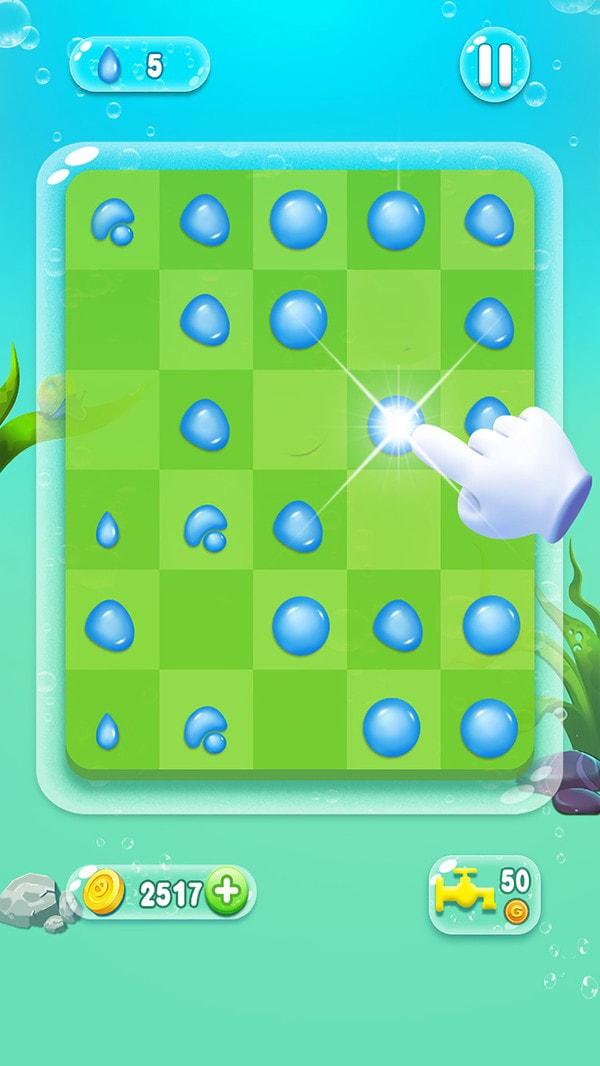 水滴泡泡爆破游戏